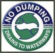 No Dumping - Drains to Waterways
